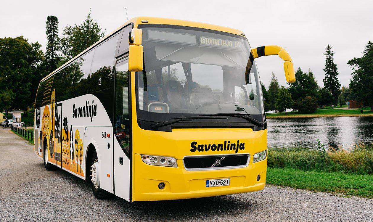 Savonlinjan keltaisilla busseilla matkustat mukavasti.